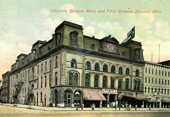 Vintage postcard of Victoria Theatre