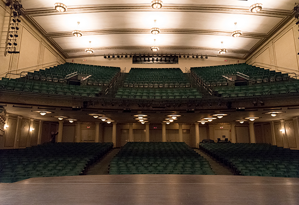 View from the stage at Victoria Theatre