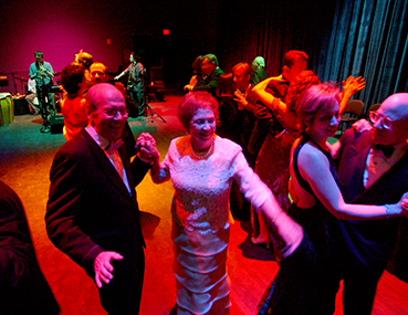 Dr. Benjamin & Marian Schuster dancing at an event at the Schuster Center