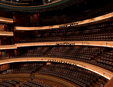 A view of the balconies in the Mead Theatre at the Schuster Center