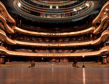 A view from the stage of the Mead Theatre at the Schuster Center