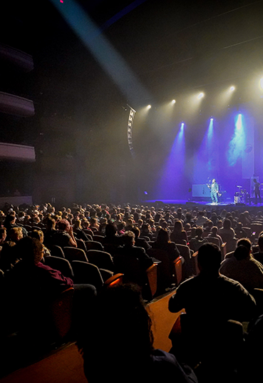 Audience of a musical performance in the Schuster Center Meade Theatre