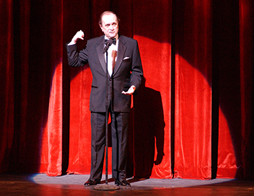Bob Newhart performing at the Schuster Center Grand Opening gala.